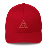 TRINITY FLEXFIT TWILL CAP-Red-S/M-Dustrial
