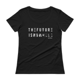 THE FUTURE SCOOPNECK TEE-XS-Dustrial