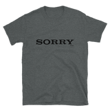 SORRY BUDGET TEE-Dark Heather-S-Dustrial
