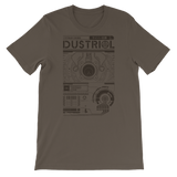 INTERFACE ETHERNET XERO UNISEX T-SHIRT-Army-S-Dustrial