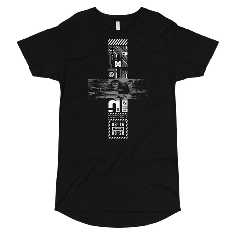 TEARS GLITCH LONG BODY T-SHIRT-S-Dustrial