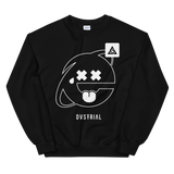 2SAD2WEIRD CREWNECK SWEATSHIRT-Black-S-Dustrial