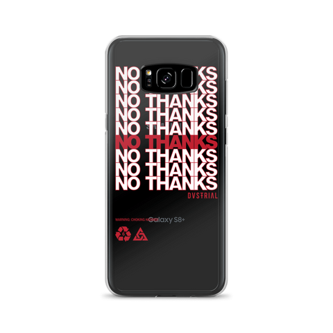 NO THANKS SAMSUNG CASE-Dustrial-future-fashion-scifistreet-SAMSUNG CASE-Samsung Galaxy S8 Plus-