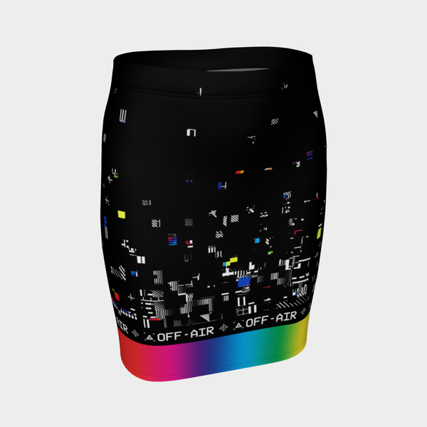 VHS RETROGRADE PENCIL SKIRT