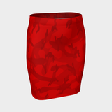 CAMO VERMILLION PENCIL SKIRT-XS-Dustrial