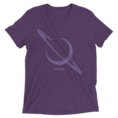 SATURN UNISEX TRI-BLEND T-SHIRT-Dustrial-future-fashion-scifistreet-TRIBLEND BC-Purple Triblend-XS-