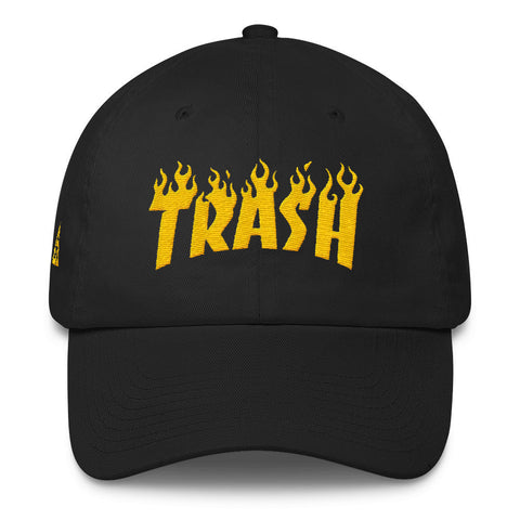 TRASH DAD HAT-Dustrial-future-fashion-scifistreet-HAT-BAY-DAD-Black-