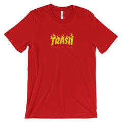 TRASH UNISEX T-SHIRT-Dustrial-future-fashion-scifistreet-UNI TSHIRT BELLA-Red-S-