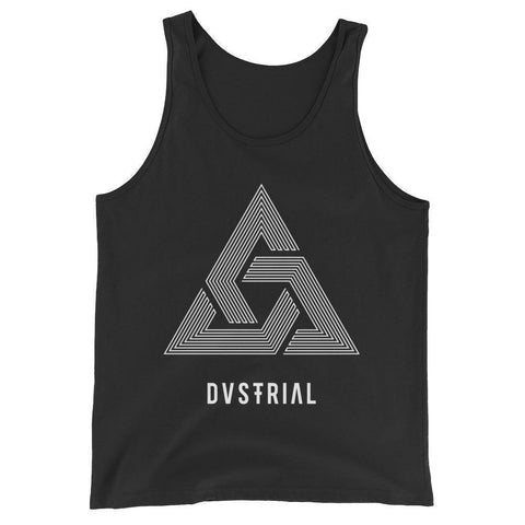 TRINITY UNISEX TANK TOP-Dustrial-future-fashion-scifistreet-UNI TANK TOP BELLA-Black-XS-