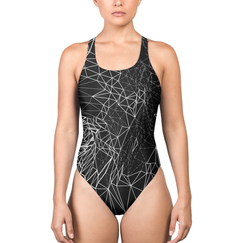 VECTOR BREAK MONO ONE-PIECE SWIMSUIT-XS-Dustrial