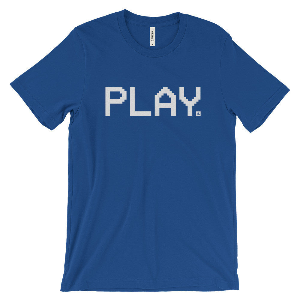 VHS PLAY UNISEX T-SHIRT-Dustrial-future-fashion-scifistreet-UNI TSHIRT BELLA-True Royal-S-
