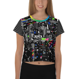 VHS RETROGRADE AO CROP TOP