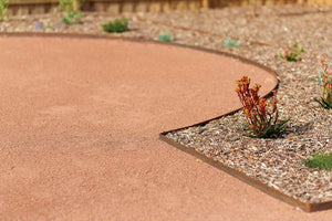 "Straightcurve 3"" Flexible CorTen Steel Edging - Henderson Garden Supply"