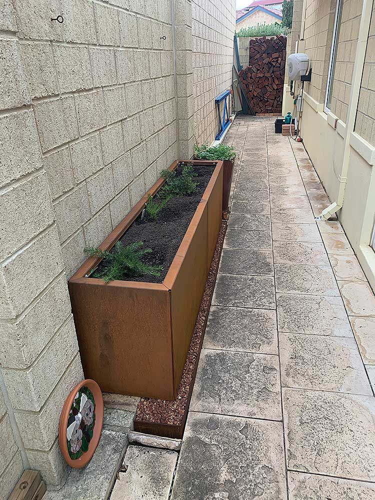 "Weathering Steel 22"" Height Raised Garden Bed Planter Sections"