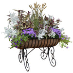 Cradle Free Standing Patio Planter with Coco Fiber Liner - Henderson Garden Supply