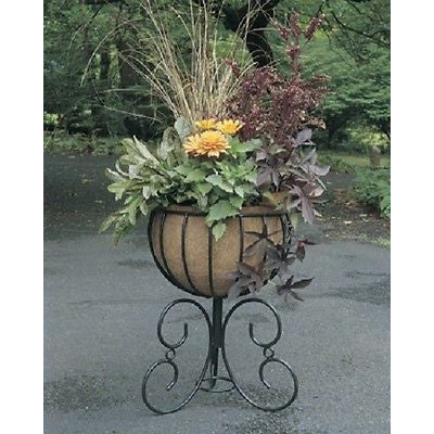 Classic Urn Free Standing Planter And Coco Liner Set