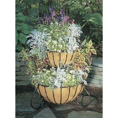 TWO TIERED PLANTER CLASSIC WITH LINERS Free Standing Cascade Planter - Henderson Supply