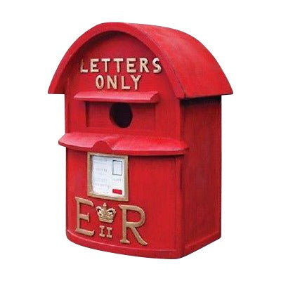 Red English Postbox Birdhouse - Henderson Garden Supply