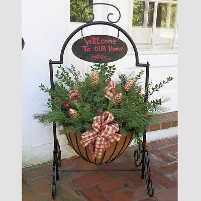 Welcome Cauldron Planter Basket- Entry way planter - Henderson Supply - 3