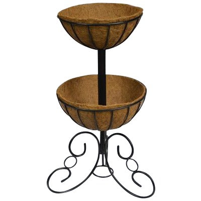 Two-Tier Planter and Liner Patio Basket Set - Henderson Garden Supply