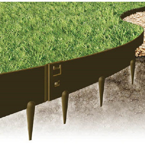 3 inch Brown EverEdge Heavy Duty Lawn Edging - 2.5 mm thick - Henderson Supply