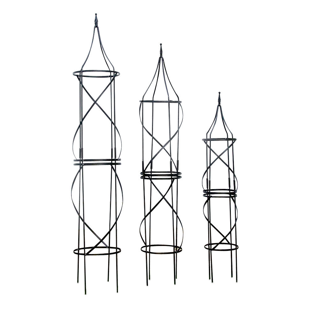 Border Tuteurs - Solid Steel Obelisk - 4 sizes available - Henderson Garden Supply