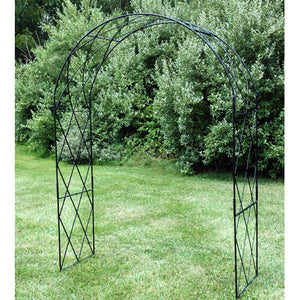 Solid Rod Steel Lattice Garden Arch Arbor - Henderson Garden Supply
