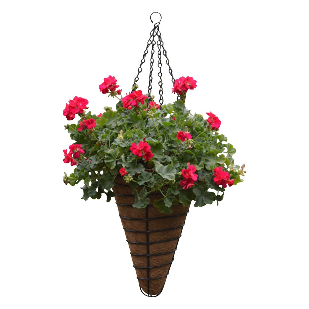 Cone shaped Concial hanging Basket and Coco Fiber Liner - Henderson Garden Supply