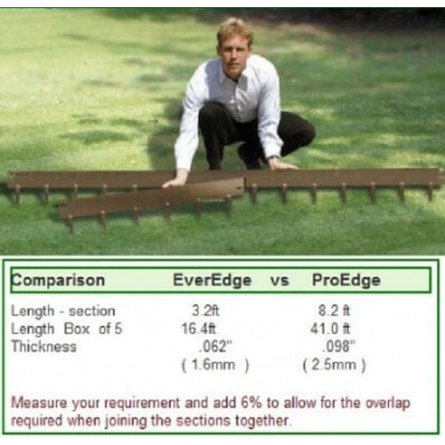 ProEdge by EverEdge Lawn Edging 3in flexible steel 3inx8ft FIVE sections 40 ft total - Henderson Supply - 3