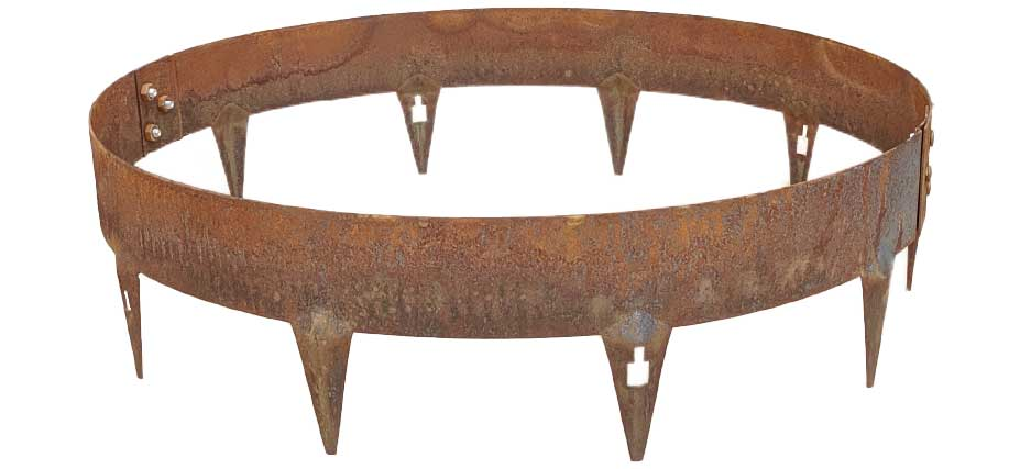 Core Pre-Rolled CorTen Steel Tree or Shrub Rings - Henderson Garden Supply