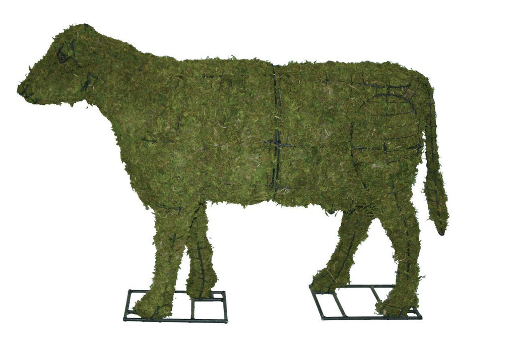"Cow 85"" Moss Topiary Sculpture"