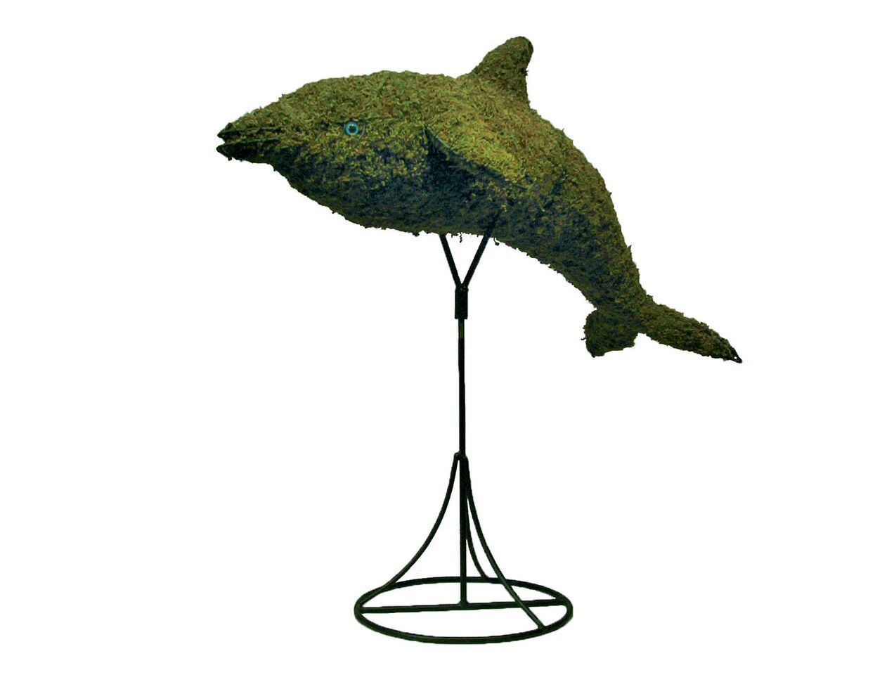 "Dolphin 36"" Moss Topiary Sculpture"