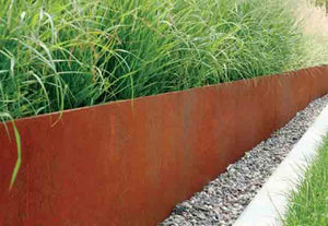 Core Edge Flexible Steel Lawn Edging show in CorTen edging as flower bed border - Henderson Garden Supply