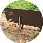 Soft Ground extension pin for extra stability to use with Core Edge Flexible Steel Edging - Henderson Garden Supply