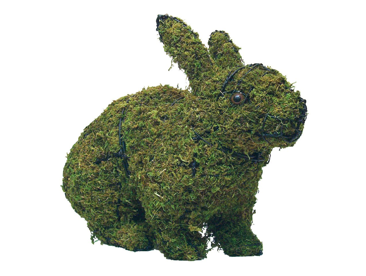 "Hopping Rabbit 17"" and 26"" Topiary Sculpture - Wire Frame or Moss Filled"