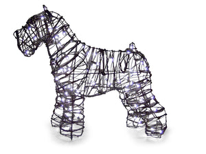 "Schnauzer 24"" Topiary Sculpture - Wire Frame, Moss Filled or Lighted"