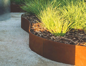 "StraightCurve 15.75"" CorTen Flexible Steel Edging - Henderson Garden Supply"