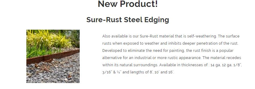 Sure-Rust CorTen Bulk Steel Edging for Commercial and Residential Application - Henderson Garden Supply