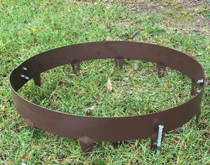 Core Pre-Rolled Brown Steel Tree or Shrub Rings - Henderson Garden Supply
