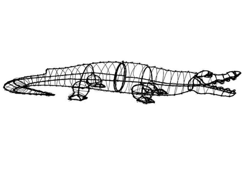 Steel Wire Frame Alligator Topiary Henderson Garden Supply