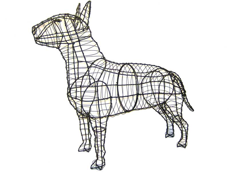 Bull Terrier Rust Free Steel Topiary Frame - Henderson Garden Supply