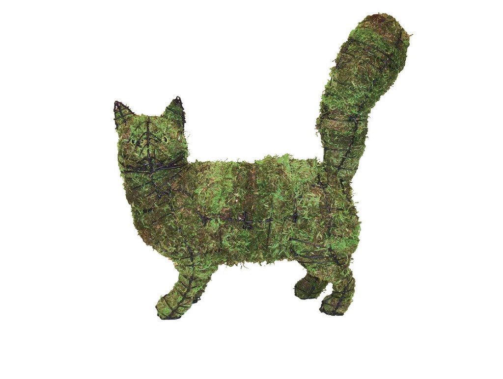 "Cat Walking 18""x17""x6"" Topiary Sculpture - Wire Frame or Moss Filled"