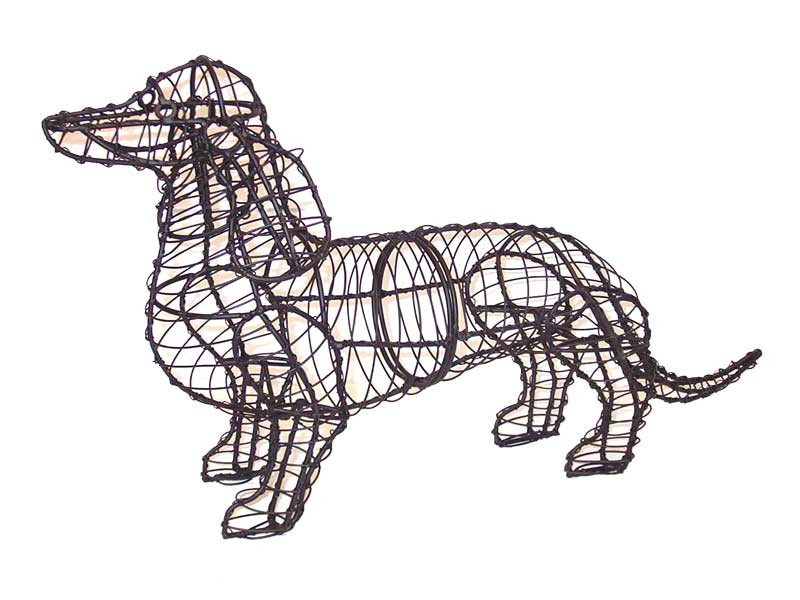 Dachshund Rust free Steel Topiary frame - Henderson Garden Supply