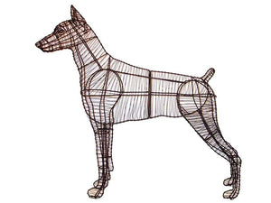Doberman Steel Topiary frame - Henderson Garden Supply