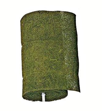 Green Dyed bulk coco fiber roll 36 inch wide by 20 feet long - Henderson Garden Supply