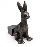 Bronze Hare or Rabbit Pot Feet Set of 3 - Henderson Garden Supply