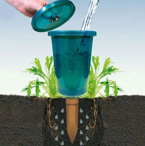 Hydro Cup and Terracotta Stake Plant Watering System- Henderson Garden