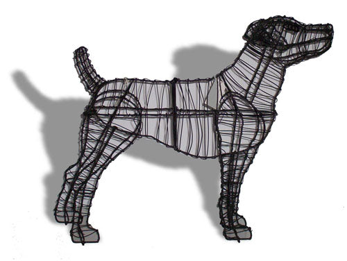 Jack Russell steel topiary frame - Henderson Garden Supply
