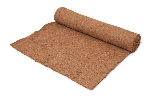 Set of 3 mini coco fiber rolls 24 inches wide by 10 feet long - Henderson Garden Supply