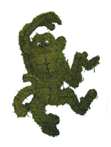 Monkey Topiary Frame filled with green dyed sphagnum moss - Henderson Garden Supply